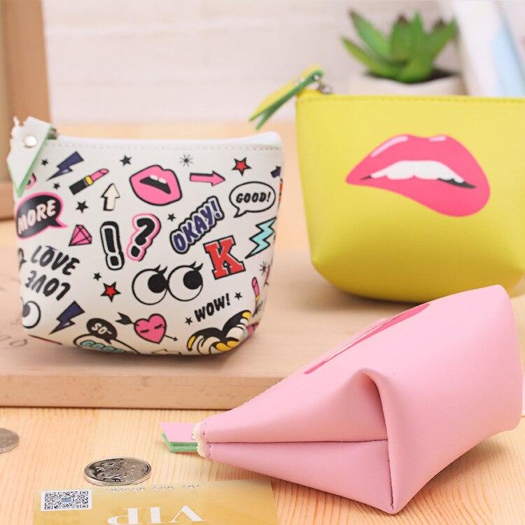 2017 women girl lovely coin purse Waterproof PU leather headset package pu Leathe animal Kids Zipper Change Wallet Card Holder