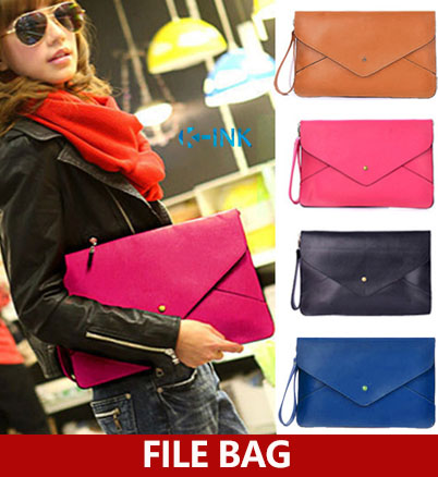 Fashionable A4 Portable Document Bag For Office Lady , Beautiful File Tote As File Folder Handbag , PU Messenger Document Bag