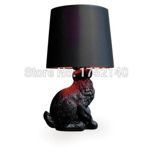 Job Desk Lamp: Resin Rabbit Desk Lamp Black / White. Job studio home bedside table lamp  desk lights,Lighting