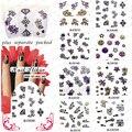 2015 NUEVA 50 hoja/LOT 3d Nail Art Design Glitter Planchas de Calcomanías de Uñas Calcomanías de uñas de arte, 8 sistema de desarrollo de CONOCIMIENTOS de diseño diferente DEL ARTE DEL CLAVO
