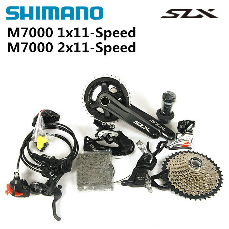 2016 NEW SHIMANO SLX M7000 1x11S 2x11S 11S 22S Speed Groupset and Hydraulic Disc Brake for MTB Mountain Bike shimano slx m7000 1x11s 11s speed groupset and hydraulic disc brake 170mm 175mm 32t 34t for mtb mountain bike