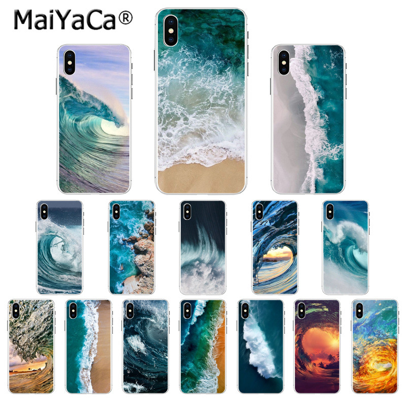 MaiYaCa Ocean blue wave sea pattern Pattern TPU Soft Phone Accessories Case for