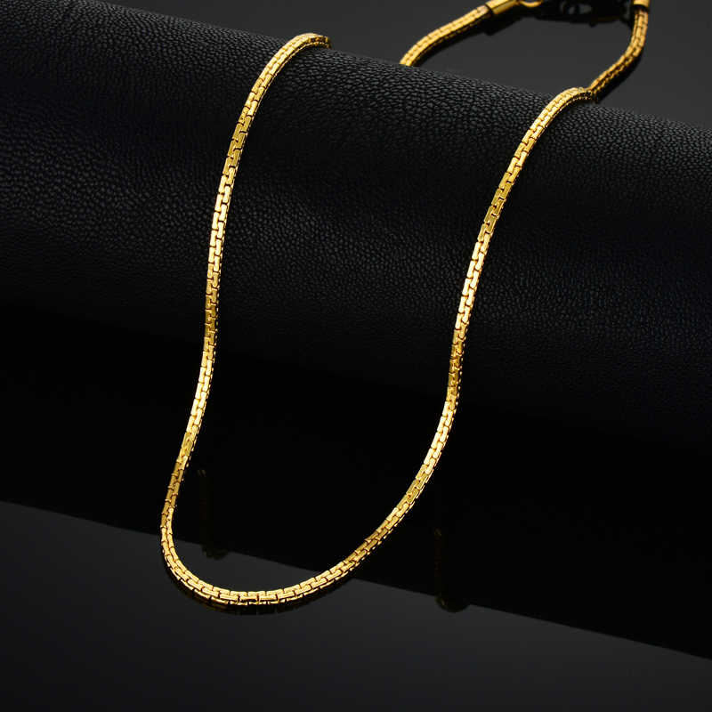 Stainless Steel Gold Chain For Men Women, Golden Stainless Steel Chain Necklace, Gold Color Vintage Collar Necklace Chokers