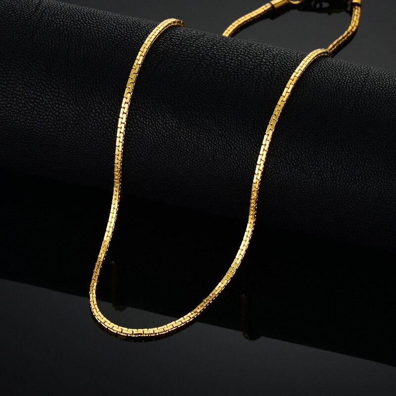 Золотая цепь из нержавеющей стали для мужчин и женщин, золотое ожерелье из нержавеющей стали, винтажное ожерелье Чокеры золотого цвета