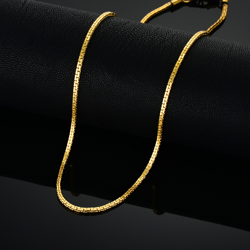 Stainless Steel Gold Chain For Men Women, Golden Stainless Steel Chain Necklace,