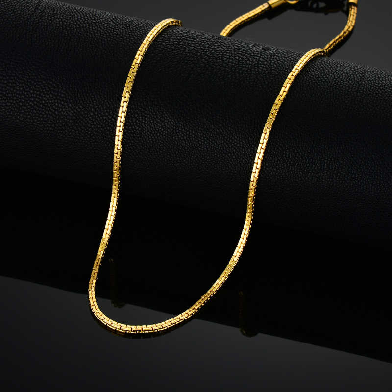 Złoty łańcuszek ze stali nierdzewnej dla kobiet mężczyzn, złoty stalowy łańcuch ze stali nierdzewnej, złoty kolor Vintage Collar naszyjnik Chokers