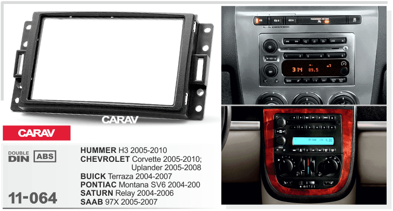 Radio Fascia For Hummer H3 Chevrolet Corvette Buick Saab 97x Double Rhaliexpress: 2005 Buick Terraza Radio At Gmaili.net