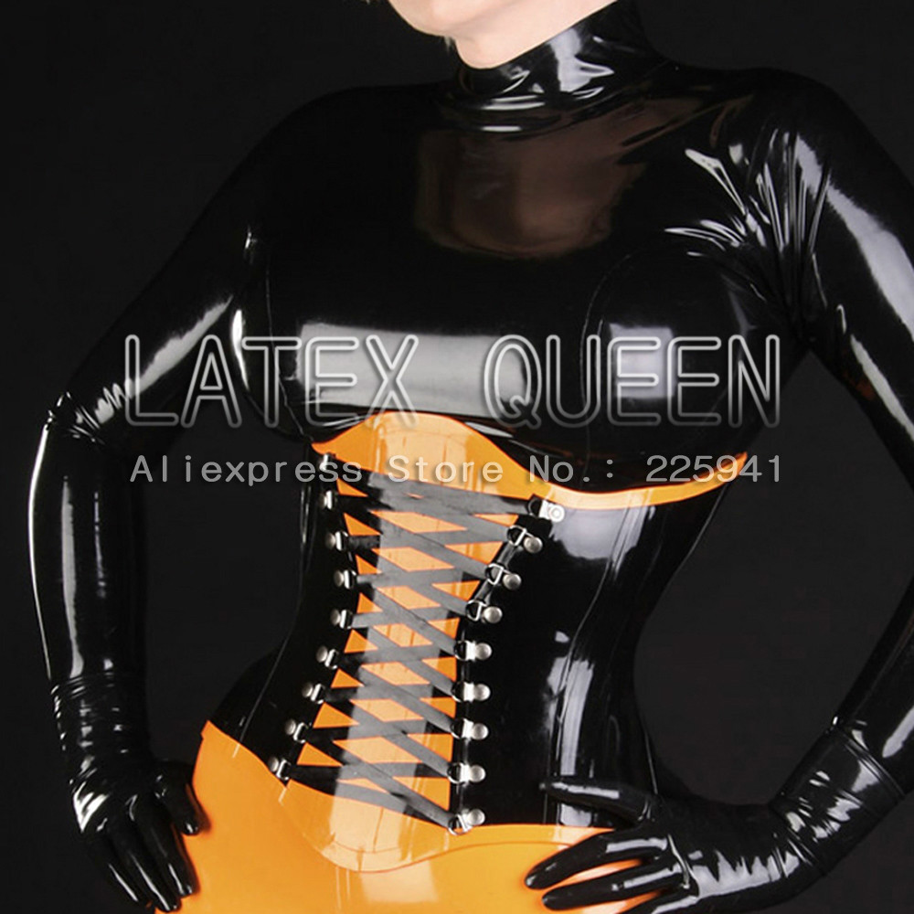 Sexy Adult's Rubber Corset 1.0 Mm Thicnkness
