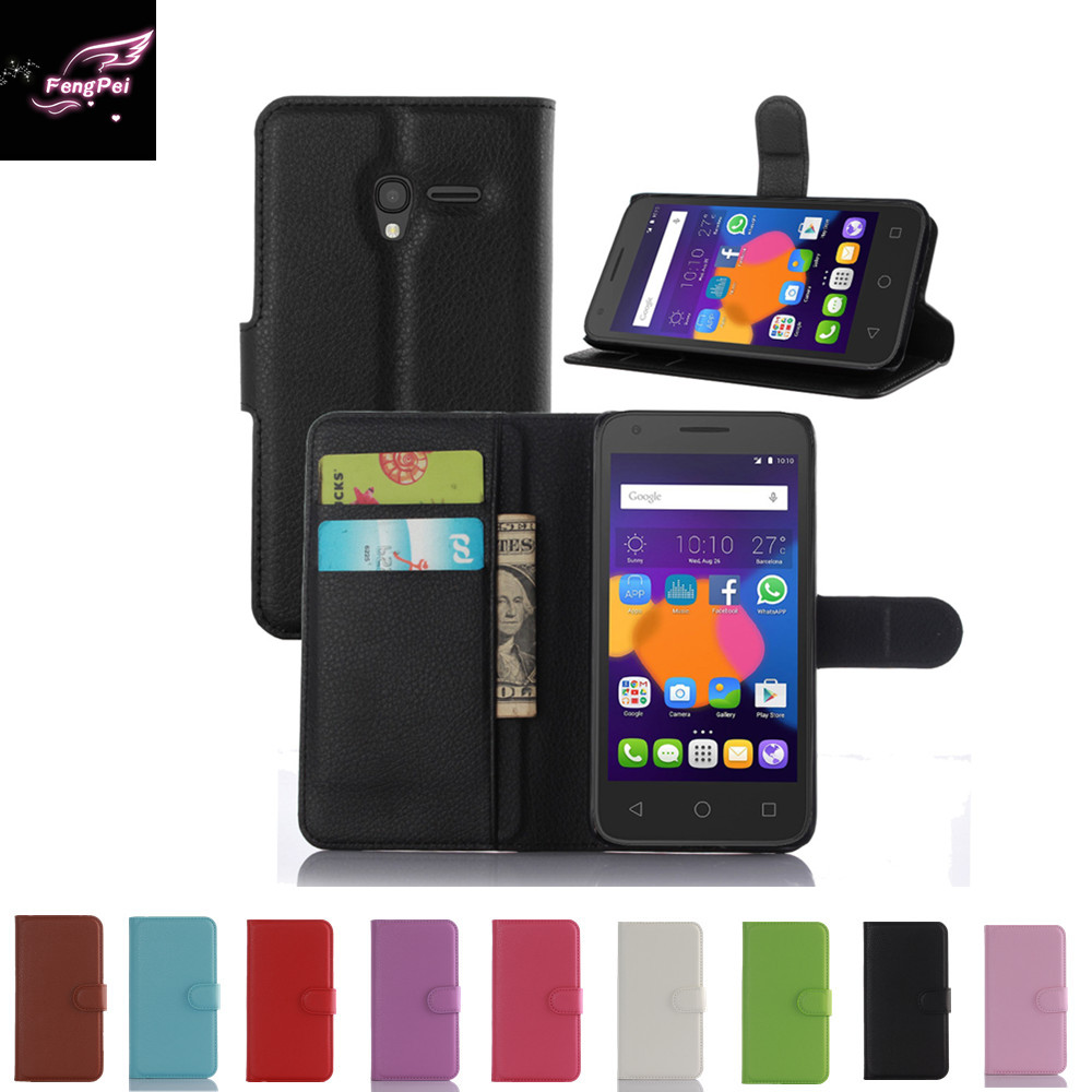 Hot Selling Wallet Style PU Leather Cas For Alcatel Pop 3 (5.0 inches) 5015X 5015A 5016A 5016J 5015D 5015E with Card Holde