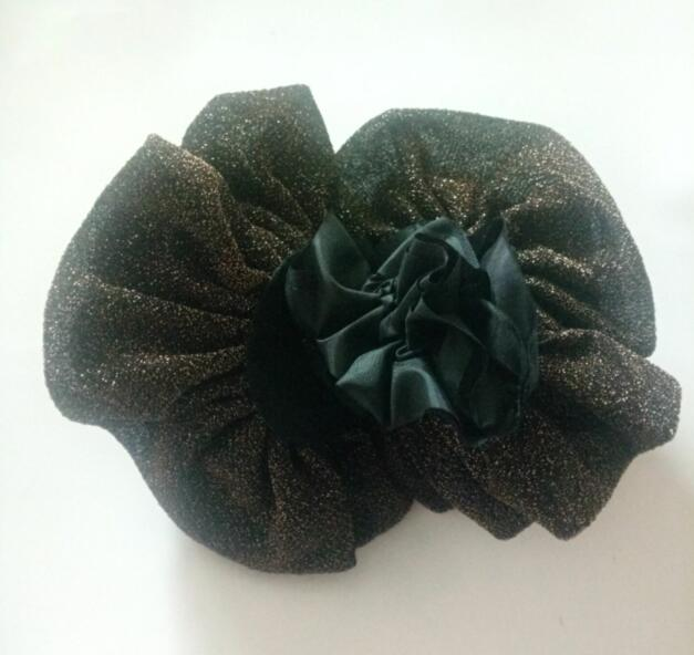 big flower hijab volumizer tie shimmer scrunchie shiny16cm hair flower ornaments