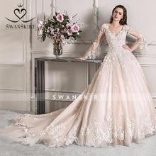 Swanskirt Wedding Dress luxury vestido de novi Vintage