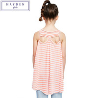 HAYDEN Mädchen Tank Tops Jugendliche T-shirt Kleidung Mädchen Kinder Sleeveless T-shirts und Shirts Lose Gestreiften T-shirt Top für Jugendliche