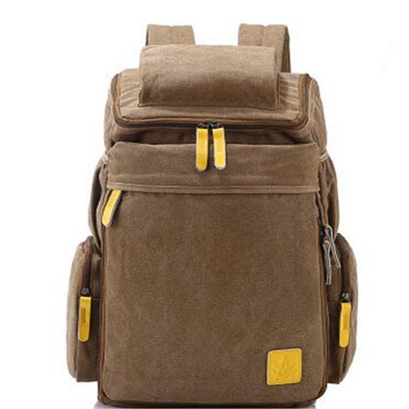 Double Shoulder Bag Men's Leisure Backpack Wash Water Canvas Student Computer Bag Outside Big Capacity Travel Bags
