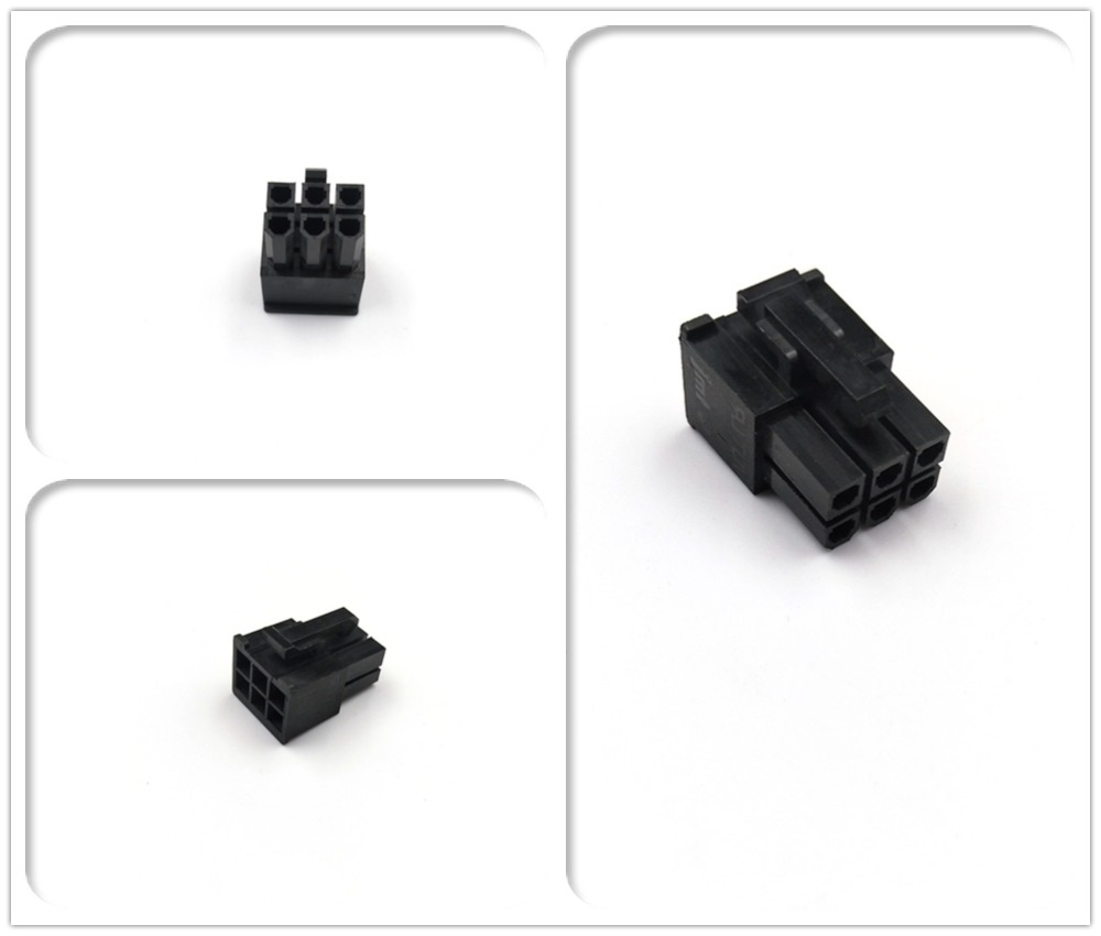 JMT Modular PSU 6Pin Male Connector Housing Included Terminals For Corsair AX1200 4.2mm Pitch Spacing 5557 Type
