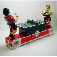 Funny Playing Ping Pong Collectible Tin Toys Creative Vintage Wind Up Toy Clockwork Toys For Adult