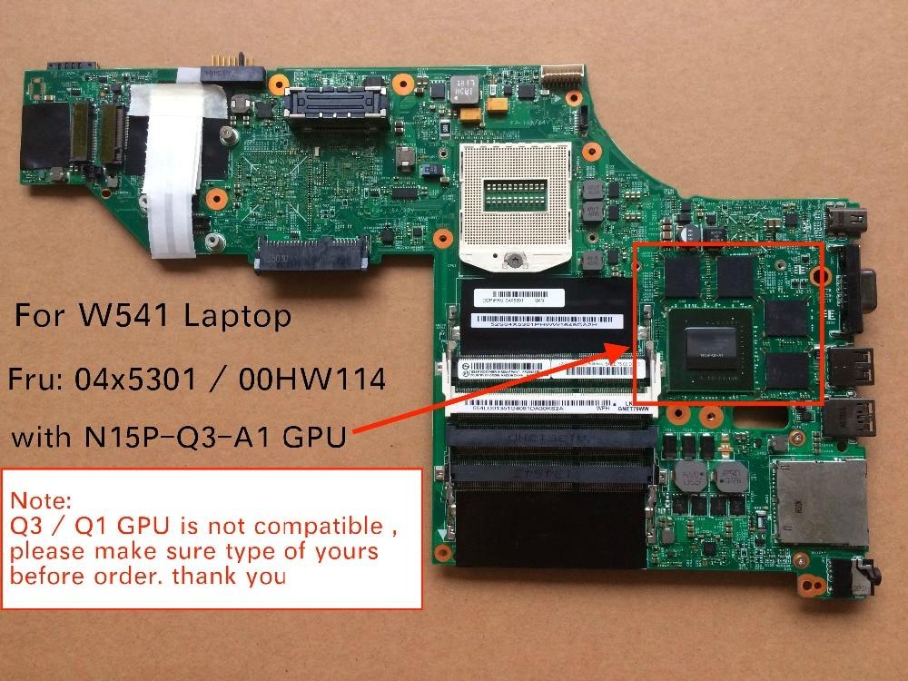 все цены на Tested New 00HW114 04X5301 For Lenovo Thinkpad W541 Laptop Motherboard with Q3 K2100M video card онлайн