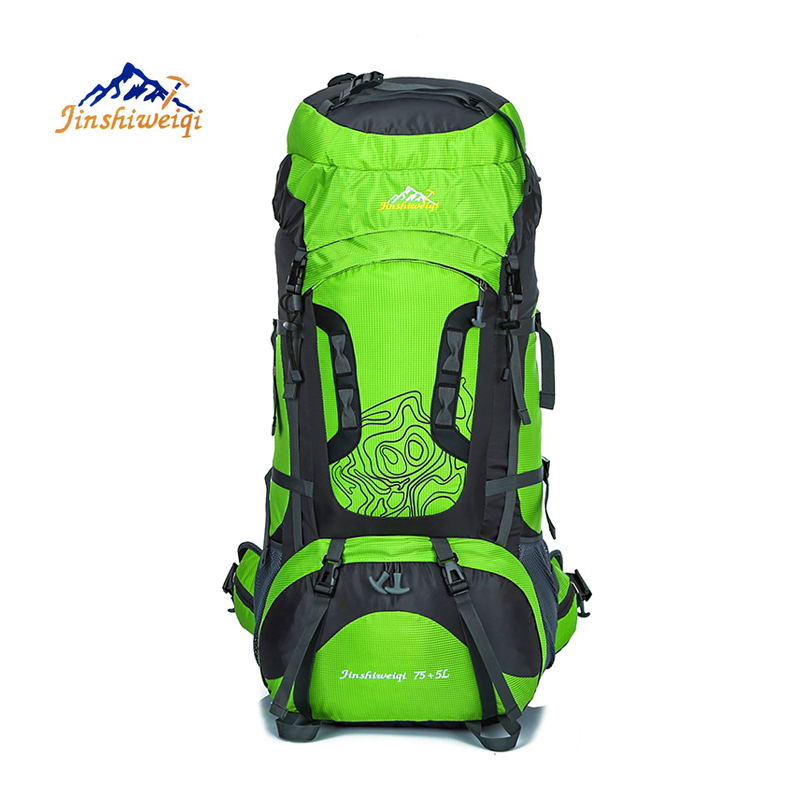 80L Large Outdoor Backpack Waterproof Unisex Nylon Travel Bags Camping Hiking Climbing Backpacks Waterproof Rucksack Sport bag стоимость
