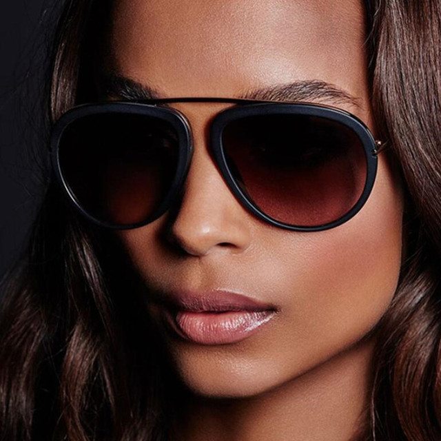 3627e42e0 HBK 2017 New Fashion Oversized Aviator Sunglasses Women Big Frame Multi  Mirror Sun Glasses For Female Oculos De Sol UV400