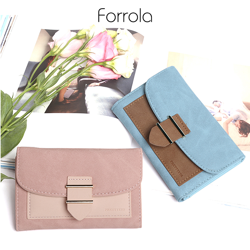 все цены на Female Wallet Creative Credit Card Holder Designer Foldable Ladies Leather Wallets Luxury Brand Women Coin Purses Holders