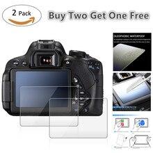 Protector de pantalla LCD de vidrio templado para Canon, Protector de pantalla LCD de vidrio templado para Canon EOS 2000D T7 T100 3000D 1500D 5D Mark IV III 4 3 5Ds R / 77D 1DX Mark II 2