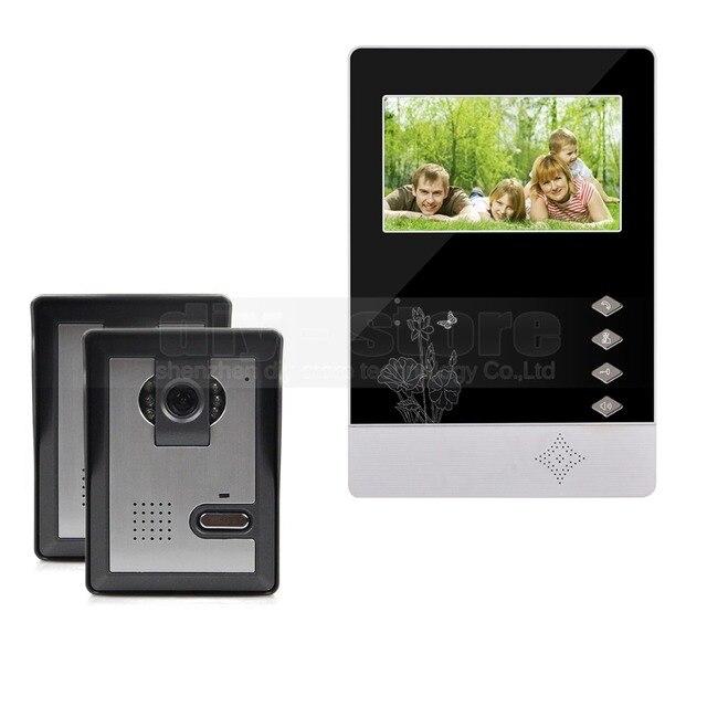 DIYSECUR 4.3 inch TFT LCD Indoor Monitor + 600 TVLine HD Camera IR Night Vision Video Door Phone Video Intercom 2V1