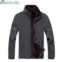 Grandwish Zip Up Hoodies Jackets Coats For Men Softshell Fleece Jacket Men Plus Size 8XL Extra