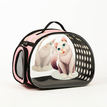 Breathable Cute Cat Dog Foldable Out Bags Cage 3D New Cartoon Animal Pet Bag Single Shoulder EVA Diagonal Portable Backpacks
