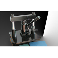 Hydraulic Pressure Hand Operate Desktop Small Manual Die Cutting Machine Leather Indentation Mold Punching Press Cutting Machine