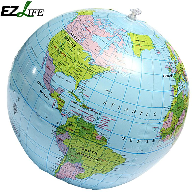 Aerated inflatable world globe ball earth tellurion home decorative aerated inflatable world globe ball earth tellurion home decorative ornament globe map home decoration accessories ms426 in figurines miniatures from home gumiabroncs Images