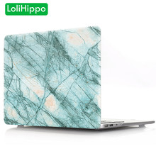 LoliHippo Marbre Motif de Protection Pour Ordinateur Portable étui pour macbook Air Pro 11 12 13 15 Pouces Touch Bar Rock Impression Couverture De Cahier(China)