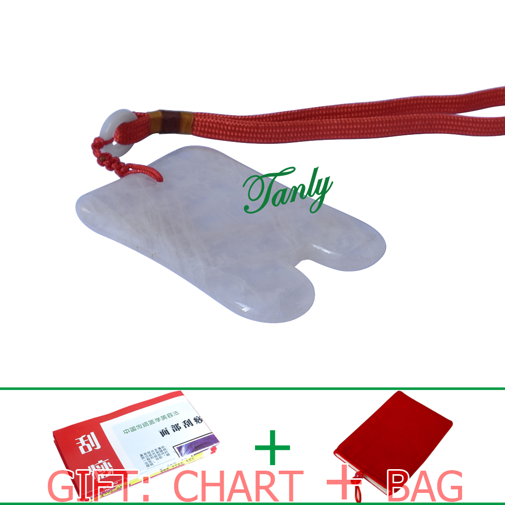 High quality! Wholesale and retail Natural Powder Crystal Massage Guasha kit (60x80mm)