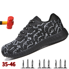 Flying Woven Labor Insurance Shoes Anti-perforation Non-slip Wear-resistant Safety Summer Refreshing Breathable Work Boots