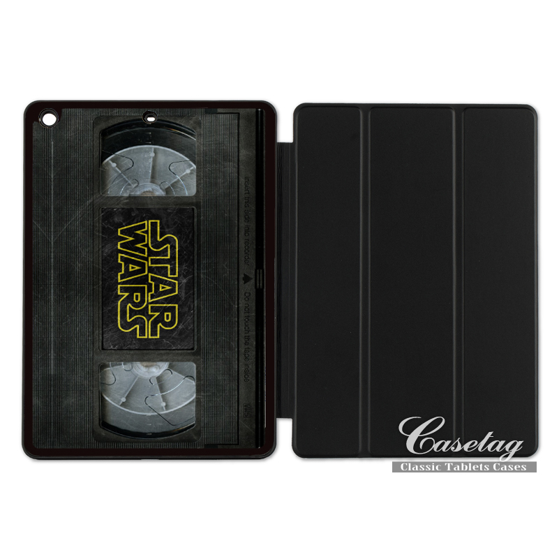 VHS Tape Star Wars Funny Folio Smart Cover Case For Apple iPad 2 3 4 Mini Air 1 Pro 9.7 10.5 12.9 New 2017 a1822