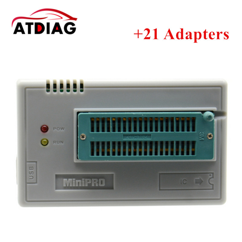 Free Shipping V6.1 MiniPro TL866CS Programmer +21 Adapters +IC Clip High Speed TL866 AVR PIC Bios 51 MCU Flash EPROM Programmer vs4800 usb universal programmer for bios gal eprom flash 51 avr pic mcu spi with 48pin zif socket support 15000 ic 4 adapters