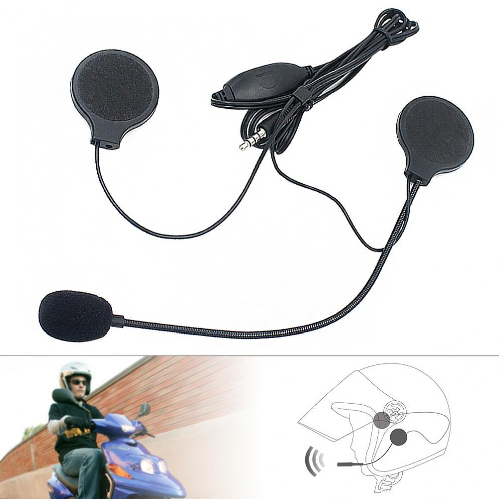 Universal 3.5MM Plug Headset Helmet Earphone Motorcycle Headphone Handsfree With MIC For MP3 MP4 Smartphone