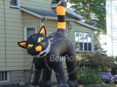 H004 Бесплатная отправка длина 4 м высота надувные хэллоуин cat для хэллоуина украшения