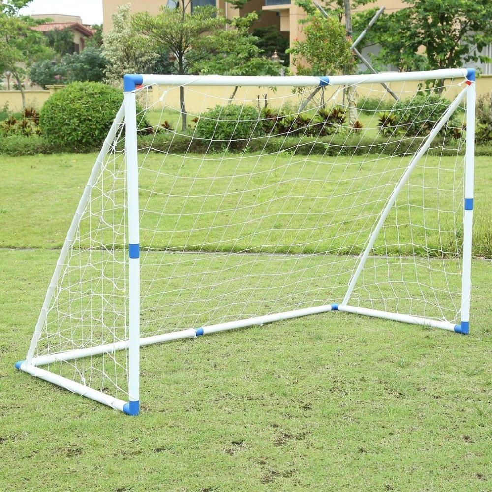 New Children Outdoor Exercise Sports Football Net PVC Soccer Goal Post Net Set Match Training Tool Carrying Bag 180*120*91CM