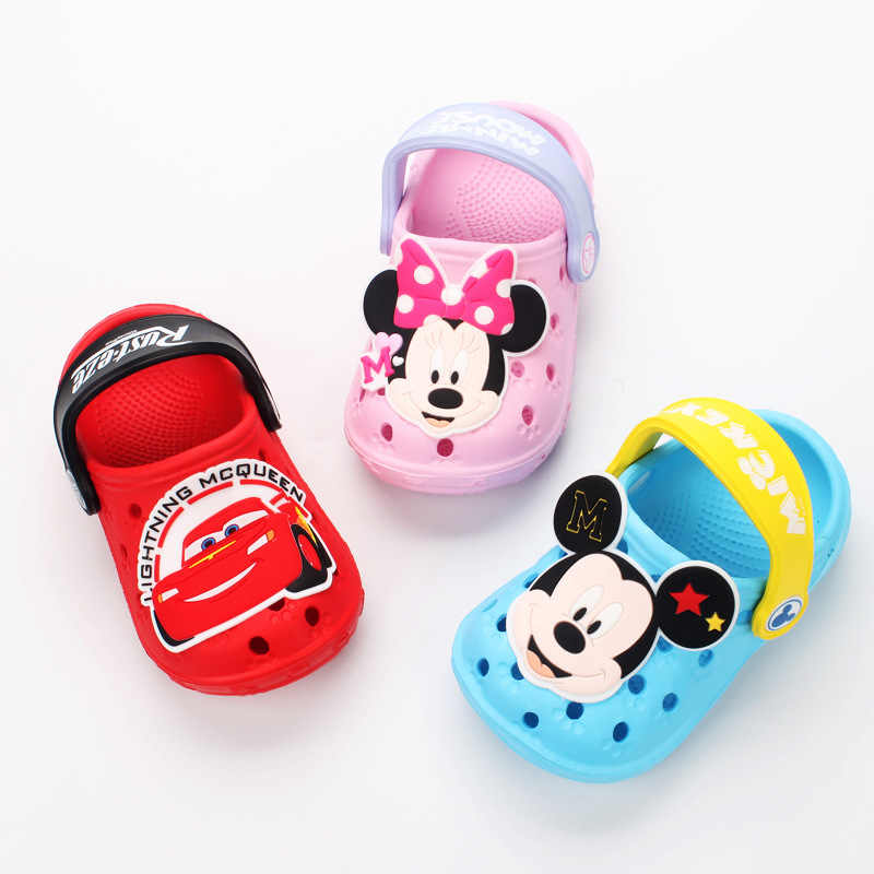 Baby Hole Shoes 2019 Summer New Children Nice Non -slip Soft Floor 1 -3 Years Old Boys Beach Cartoon Animation Sandals