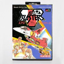 Aero blasters 16 bit MD card with Retail box for Sega MegaDrive Video Game console system