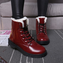 Winter warm flat snow velvet ankle boots PU27