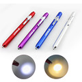 4 Color Pen Flashlight LED Bulbs Penlight Torch Emergency Medical Doctor Nurse Surgical First Aid Yellow White Light