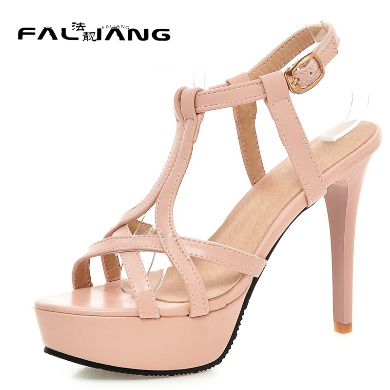 New arrival Summer plus size 11 12 13 14 Fashion T-Strap Peep Toe sexy womens shoes Super High summer sandals ladies sandals new 2017 spring summer women shoes pointed toe high quality brand fashion womens flats ladies plus size 41 sweet flock t179
