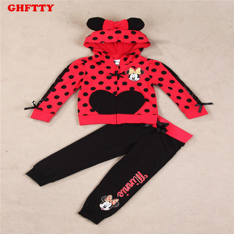 baby girls clothing sets cartoon minnie mouse 2017 winter children's wear cotton casual tracksuits kids clothes sports suit hot smoby кухня cheftronic minnie mouse подарок микроволновая печь minnie mouse