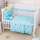 4pcs Include 1pcs Big Crown Shape Crib Headrest Cushion 1pcs Long Side Mesh Bumper 1pcs End Cotton Bed Bumper 1pcs Bed Sheet