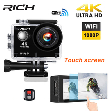 RICH Wifi 4K Ultra HD Action Camera 2.0 Touch Screen Waterproof with Gyro Remote Control Digital sport Camera go extreme pro cam