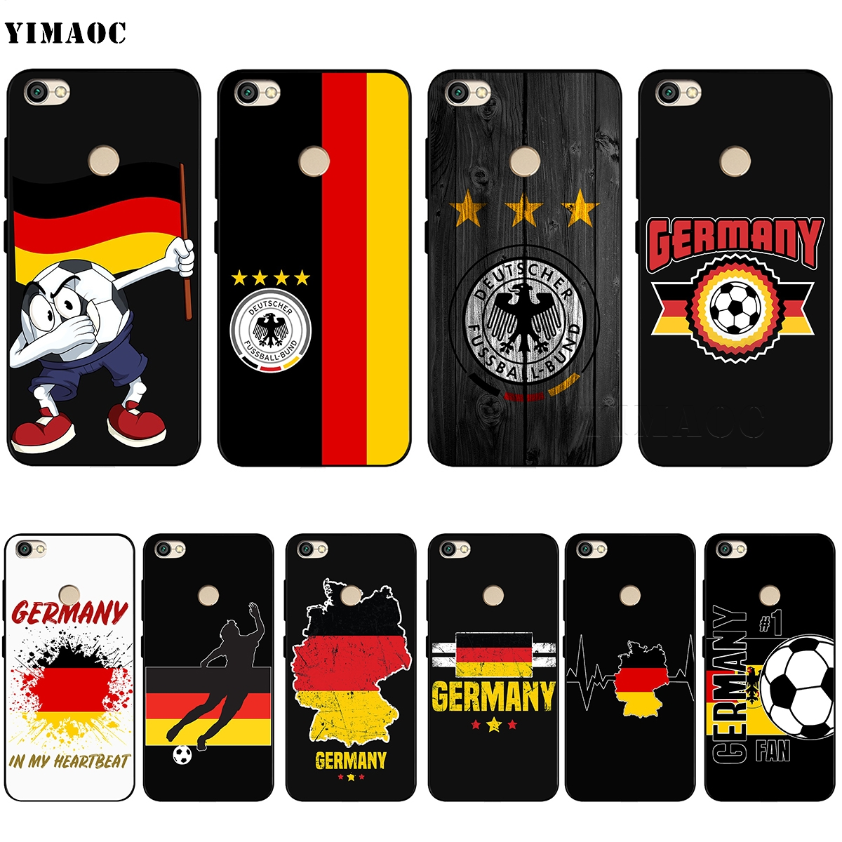 YIMAOC Germany Soccer Soft Silicone Case for Xiaomi Redmi Note 4 4X 4A 5 5A 6 MI A1 mi6 Prime Plus