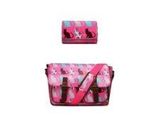 1 Set bag purse women men Scottie Cat Oilcloth School handbags Messenger Satchel Bag and canvas