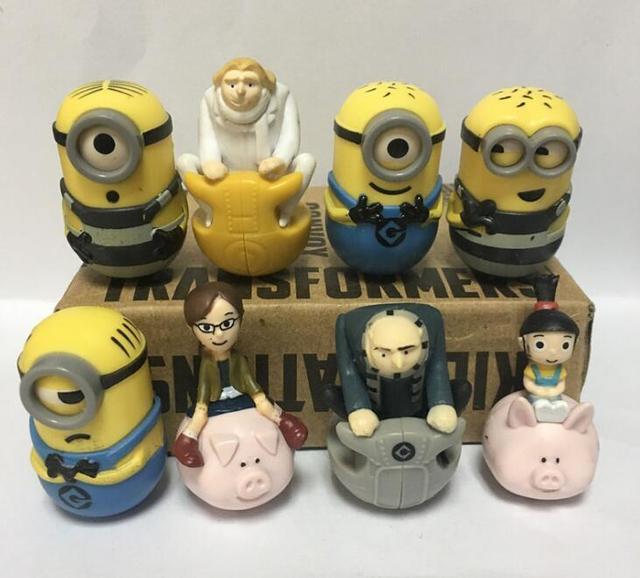 Cartoon Set Minion Figure Model Toys
