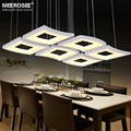 New Modern LED Pendant Lamp White Acrylic Hanging Light Square Lighting Living Room Hotel Project Lustres LED Fitting