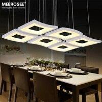 New Modern LED Pendant Lamp White Acrylic Hanging Light Square Lighting Living Room Hotel Project Lustres